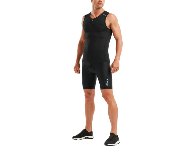 2XU Active Débardeur de triathlon Homme, black/black